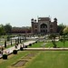 Vista do portao principal do Taj Mahal