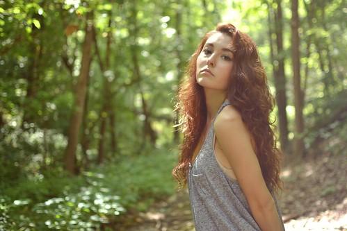 フリー写真素材, 人物, 女性, 森林,