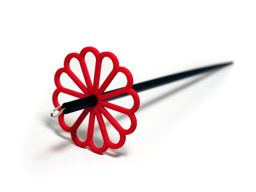 red flower spindle