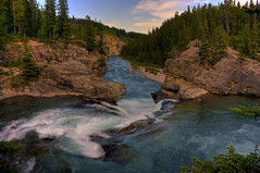 Lazy evening (JoLoLog) Tags: trees canada river rocks alberta rockymountains hdr lorien kananaskiscountry canadianrockies canonxsi mygearandme mygearandmepremium mygearandmebronze mygearandmesilver mygearandmegold mygearandmeplatinum mygearandmediamond theelbowfalls