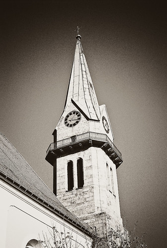 Church Tower by Julie Danielle