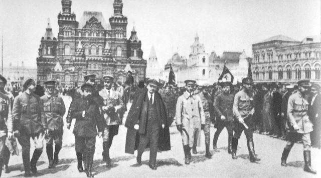 Lênin na Praça Vermelha em 1919 - União Soviética