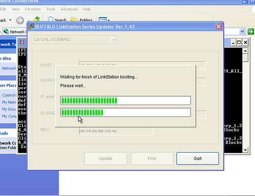 firmware update aborts - ls-ch1 0tl-v2 keeps changing ip address