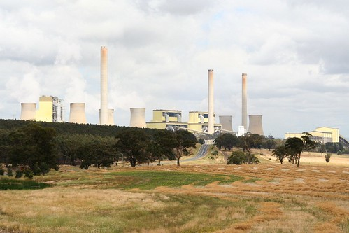Looking across to Loy Yang power station