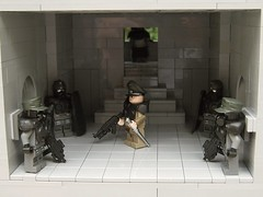 Commander with Guards... (*Nobodycares*) Tags: world 2 cliff trooper beach soldier weird amazing war lego wwii attack assault bunker ii hazel ama tiny ww2 guns armory normandy dday isa kz helghast killzone tactical uas sheaths brickarms aww2 sluban brickforge mmcb kz3 kz2 minifigcat tinytactical awwii toys711