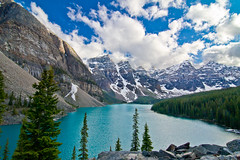Moraine Lake, Banff National Park, Alberta, Canada (Christopher Brian's Photography) Tags: snow canada mountains clouds alberta banff banffnationalpark 20bill uwa ultrawideangle glacialwater lakemoraine canoneos7d tokina1116mmf28atx116prodx the20view