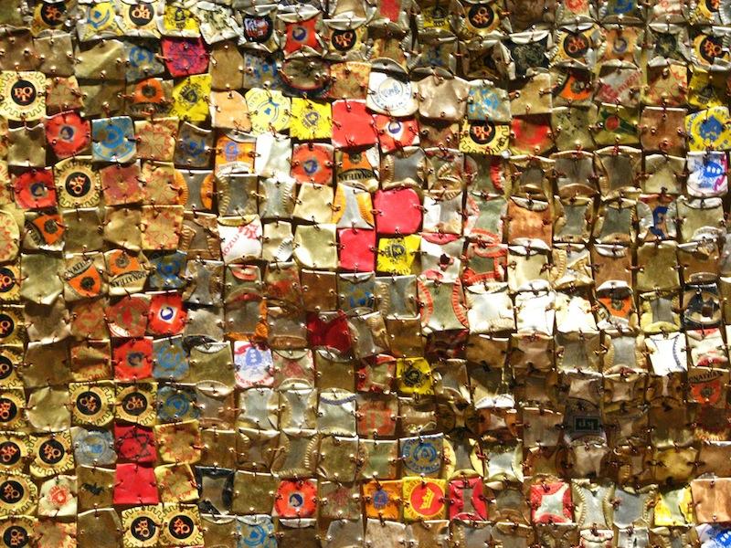 El Anatsui recycled wall art 4