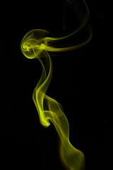 Smoke Art - Yellow Run (Feggy Art) Tags: abstract art canon photography rebel photo artwork kiss photos smoke flash creative trail burn stick winding pure vivitar wispy incense wisp strobe plumes drifting drift xsi whisp unit plume ignite x2 inscents 283 flashgun inscent whaft smokeart artsmoke insent strobist 450d insents feggy themacrogroup yongnuo victius yn467 whafting