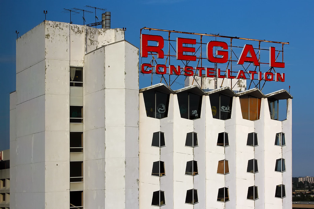 The now abandoned Regal Constellation Hotel