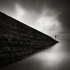 The Introspect (Andy Brown (mrbuk1)) Tags: ocean longexposure light cloud seascape reflection water stone wall contrast dark square blackwhite exposure moody atmosphere devon marker atmospheric wedge dawlish 10stop nd110 leefilters