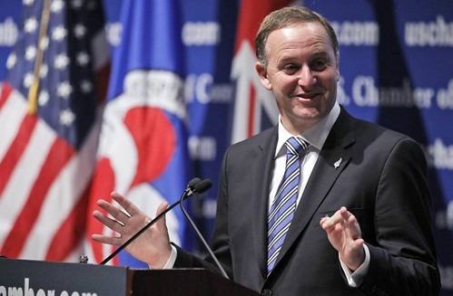 New Zealand Prime Minister John Key, speaks at breakfast at the U.S. Chamber of Commerce Thursday, July 21, 2011 in Washington.(© AP Photo/Alex Brandon)