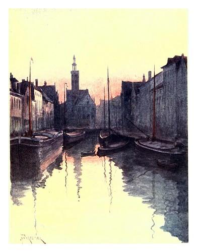 009-Brujas-Canal del espejo-Belgium 1908- Amédée Forestier