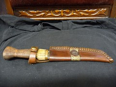 """XI""- Custom Knife Sheath w/ Rattle Snake Band photo #1 (Tannin Schwartzstein) Tags: knives wicca witchcraft pagan leatherwork heathen athame sheath leathercraft customwork customknife boline"