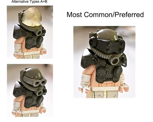 Custom minifig Rebuilding Society: Government Soldier Helmet Standards (2)