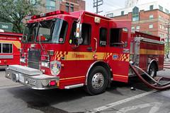 Toronto Fire Pumper 332 (HANGAR ENT.) Tags: rescue toronto ontario canada alarm truck fire town smoke flames 4 911 4th down brunswick aerial rig 23 ladder emergency avenue department pumper 332 fighrer