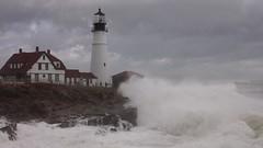 Big Wave (mstonehocker) Tags: storm portland maine newengland atlantic portlandheadlight bigwave