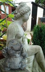 Do you like my new Girlfriend? (Steve Taylor (Photography)) Tags: statue lady funny girlfriend lol humor like humour mole gardenornament