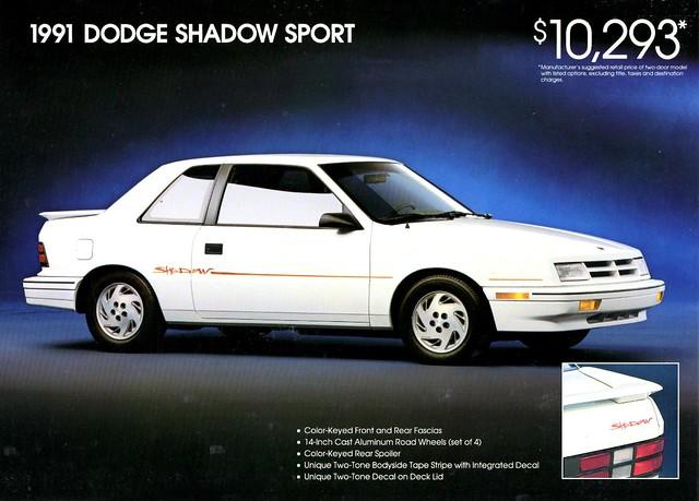 shadow sport dodge 1991 brochure