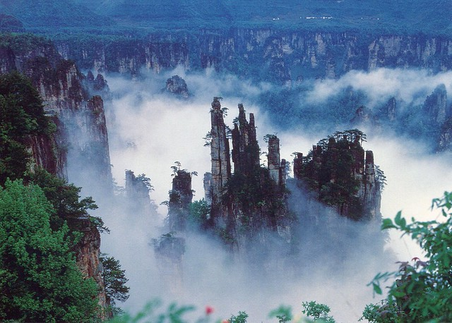 Cumbre Pincel Imperial de la Montaña Tianzi en Wulingyuan