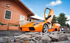 Do the wave. (Ian Altamore.) Tags: door orange up ian parked lamborghini murcielago lambo murcie altamore