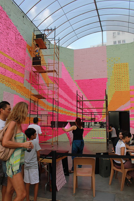 Melissa PostIt Making of In Sao Paulo