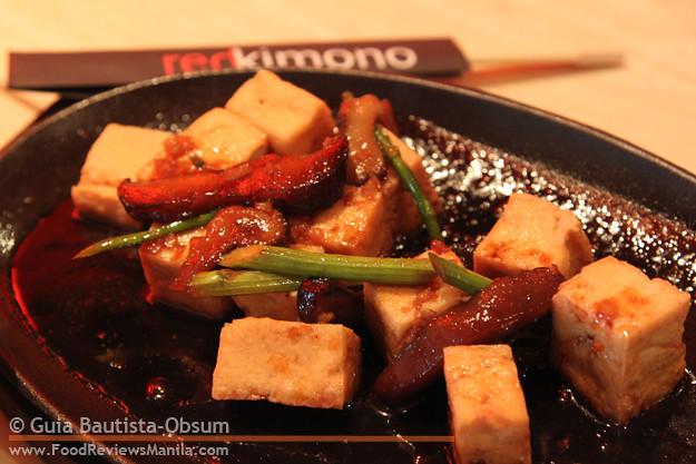 Red Kimono Sizzling Tofu Steak