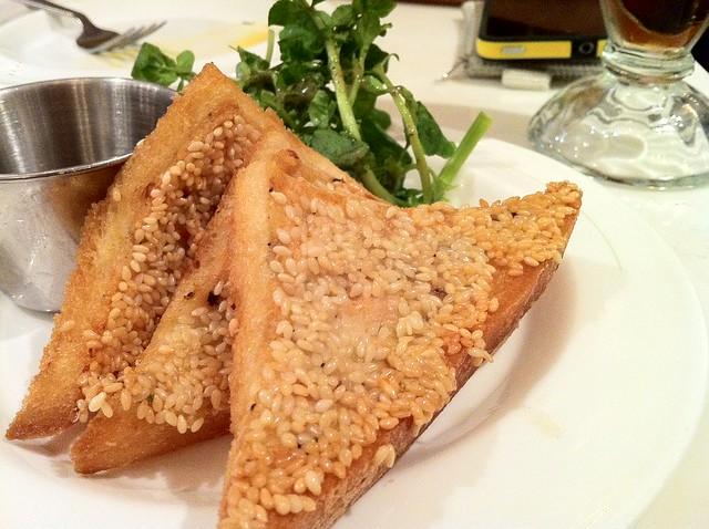 Black truffle prawn toast  (SML Restaurant)