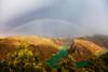 Arcoiris sobre el Segura (Jose Casielles) Tags: color luz arcoiris río lluvia agua paisaje nubes tormenta arcoirisdoble montañas yecla ríosegura fotografíasjcasielles