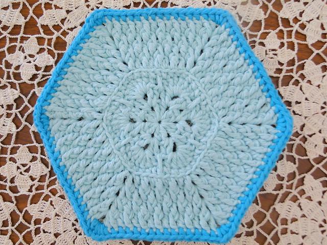 blue dishcloth