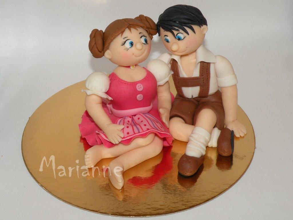 auntibot fondant gumpaste couples