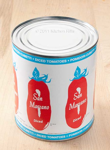 Can of San Marazano diced tomatoes