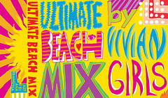 Mix tape cover with colorful words