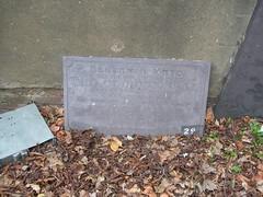 Photo of Benjamin Mayo stone plaque