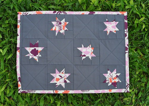 wonky stars placemat