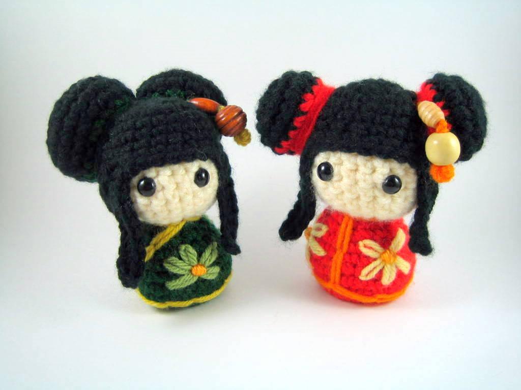 Free Amigurumi Kokeshi Doll Patterns : Amigurumi spring bunny crochet free pattern u how to amigurumi