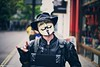 Anonymous (Rick Nunn) Tags: street portrait london hat leather photojournalism rick v anonymous nunn vendetta ef50mmf14usm vsortpop