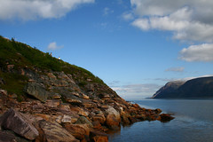 Teno meets Arctic Sea (Heidd) Tags: ocean summer water colors norway landscape lapland teno kes utsjoki arcticsea