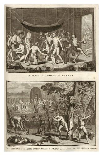 021-Matrimonio de los indios de Panama-Ceremonias et coutumes religieuses de tous les peuples du monde 1741- Bernard Picart-© Universitätsbibliothek Heidelberg