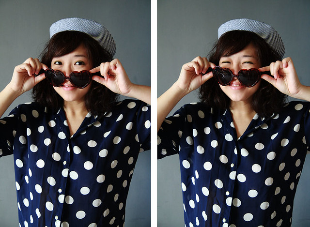 Navy Dots & Stripes