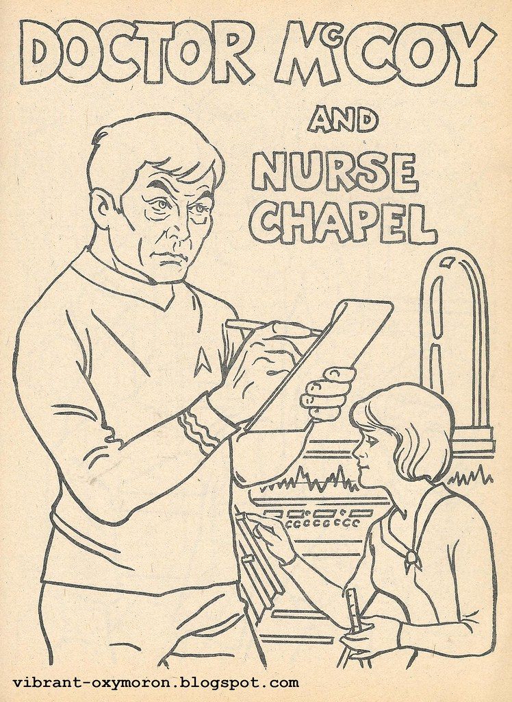 this first book was mostly for coloring purposes and had a story to go along with it as well i have not scanned those pages as of yet - Star Trek Coloring Book