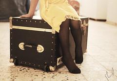 (Ebtesam.) Tags: white black yellow bag trolley saudi arabia jeddah abdullah ebtesam
