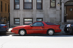 Red Daytona (Flint Foto Factory) Tags: street city red summer urban chicago beautiful 1987 sheffield parking north 1988 july advertisement 80s toyota dodge parked mopar daytona addison lakeview 1980s parallel kerb curb coupe gmc fwd sporty acadia camry wrigleyville hatchback kcar boystown 2door tagline 2011 louvers gbody g24 shelbyz northalsted anamericanrevolution worldcars leeiacocca