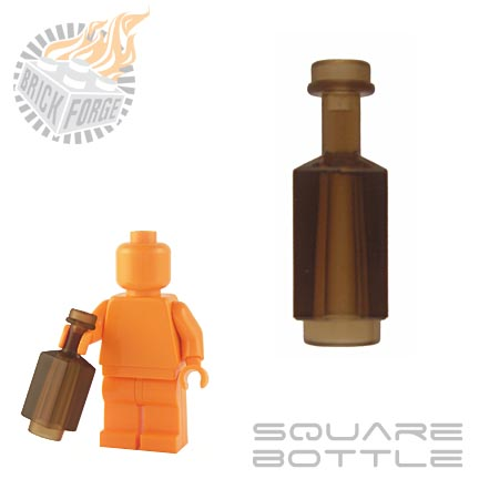 Square Bottle - Trans Brown