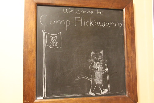 Camp Flickawanna chalkboard