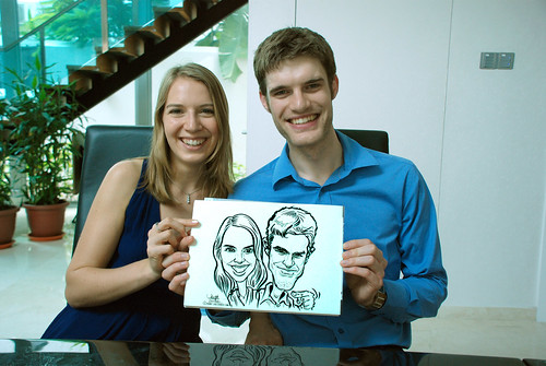 caricature live sketching for wedding solemnisation - 12