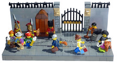 Changing The Guard (MinifigNick) Tags: london lego buckinghampalace vignette guardsman minifigures series5