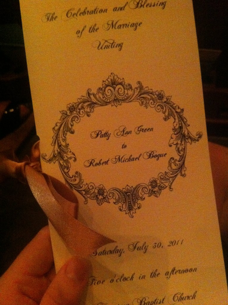PAB wedding prog