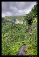 Aurlandsdalen 2 (vegarste) Tags: nature norway trekking landscape norge nikon hiking path natur norwegen dal valley sti hdr landskap aurlandsdalen d90 3xp photomatix tonemapping 3exp