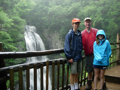 At Bushkill Falls in the rain