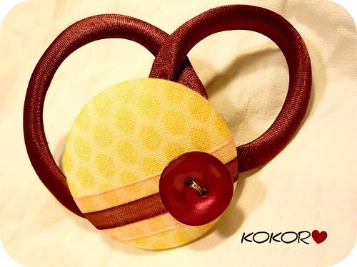 Tocado Corazón de frambuesa sobre vainilla by KOKORO COMPLEMENTOS